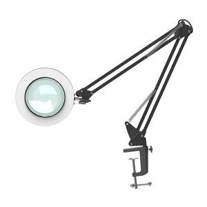 【送料無料】ルーペ デスクライト LED クリップ式 拡大鏡 テーブル ランプ 折りたたみ式 卓上ライト 無段階調光 USB 接続 角度調整可能 読書 M025