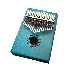 【送料無料】親指ピアノ17音 グリーン カリンバ kalimba サムピアノ 楽器 マホガニー製 初心者 SINKARIN-GR