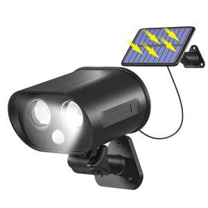 【送料無料】分離型 人感センサーライト 100LM LED ソーラーライト 高輝度 屋外 角度回転 夜間自動点灯 太陽光発電 防水 SEPARALI