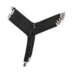 【送料無料】ベッドシーツ 固定バンド 4本セット ブラック 三角形ゴムバンド 調節可能 フラットシーツ ズレ防止 滑り止め 4-BEDSTOP-BK