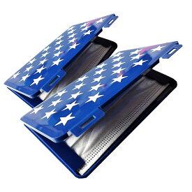 【送料無料】マスクケース ブルー 2台セット 保管 衛生 収納 2-3枚 持ち歩き 安全 ウィルス 病気 感染防止 ポケットサイズ 2-MSCASE-BL