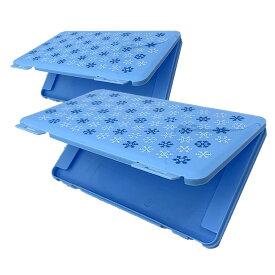 【送料無料】マスクケース 水色 2台セット 保管 衛生 収納 2-3枚 持ち歩き 安全 ウィルス 病気 感染防止 ポケットサイズ 2-MSCASE-MI