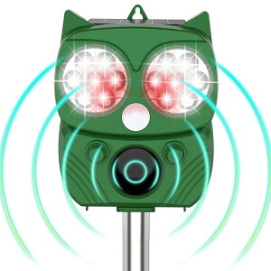 【送料無料】動物撃退器 害獣撃退器 超音波 フラッシュライト 警報音 センサー ソーラー USB充電式 防水 5モード 猫 鳥 ネズミ 犬 よけ 簡単 設置 NEKOBUTU