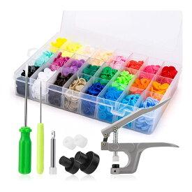 【送料無料】プラスナップ スナップボタンセット ハンディプレス プラスチック ボタン 12mm T5 24色 240組 収納ケース付き 手芸 裁縫 PURANA24