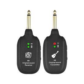 【送料無料】ギターワイヤレス システム トランスミッター 受信機 充電式 無線 ギター 送信機 アクセサリー UHF GUITWSTM