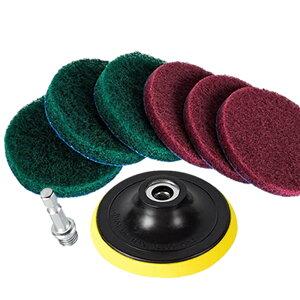 【送料無料】ドリルブラシ 7点セット パワー スクラバー 掃除 洗車 磨き ドライバー アタッチメント カーペット クリーニング WAXBURA