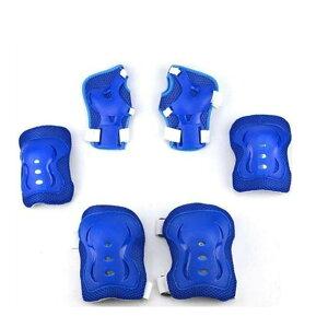 お守りKIDS ブルー キッズプロテクター 子供用 6点セット 自転車 一輪車 スケボー スケート に 手首 肘 膝保護 子供 練習 パッド OMAKIDS-BL
