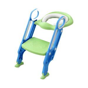 子供トイレ教習所 グリーン 子供用 トイレトレーナー 柔らかい クッション トレーニング 補助便座 尿 踏み台 KOKYO-GR