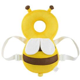 赤ちゃんのごっつん防止 やわらか リュック ハチ クッション 頭 守る サイズ調整可能 超軽量 安全 安心 かわいい 男の子 女の子 SAFEBEE-YE