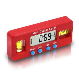 デジタルレベル 電子水平器 デジタル角度計 傾斜計 LCD液晶画面 DIY 壁 木材 工具 便利 水平器 万能 高性能 DENSUIHE