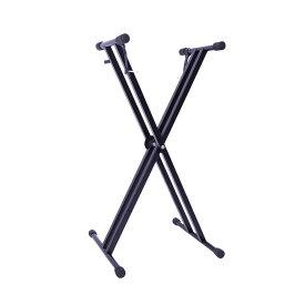 キーボード スタンド X型 軽量 2.3kg 高さ調節可 楽器 ピアノ 電子 音楽 ミュージック バンド スタンド 置き場 安定感 TANDKEY