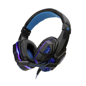 グラティヘッド ブルー ゲーミングヘッドセット ps4 ヘッドホン PC用 高音質 臨場感 騒音隔離 マイク付き ゲーム用 SY830MV-BL