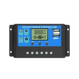 ソーラーチャージコントローラー 30A 12V/24V LCD 充電コントローラー 電流ディスプレイ 液晶 CHARCON-30