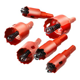 穴あけドリルビット 6点セット 工具 18 20 22 28 30 35 mm セット DIY 木板 合板 ステンレス ホールソーセット 簡単 電動 MRDOLIRA