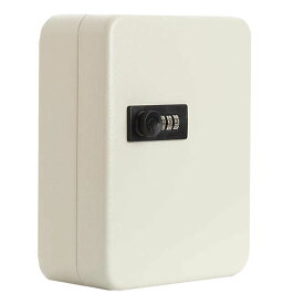 キーボックス 20個収容 ホワイト 28キー キーケース 壁掛け 暗証番号 ダイヤル式 鍵管理 オフィス 家庭 KIBOBON-20-WH