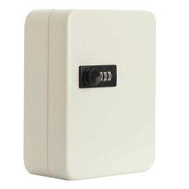 キーボックス 28個収容 ホワイト 28キー キーケース 壁掛け 暗証番号 ダイヤル式 鍵管理 オフィス 家庭 KIBOBON-28-WH