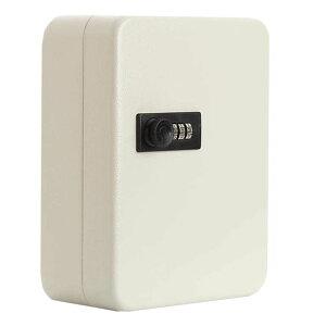 キーボックス 36個収容 ホワイト 28キー キーケース 壁掛け 暗証番号 ダイヤル式 鍵管理 オフィス 家庭 KIBOBON-30-WH