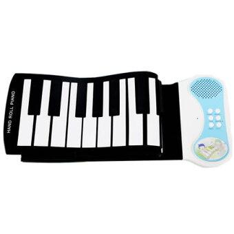 【送料無料】 くるくる巻ける 49鍵盤 49キー 電子ピアノ ロールピアノ デモ曲 和音 ピアノ ◇RZ-PN49