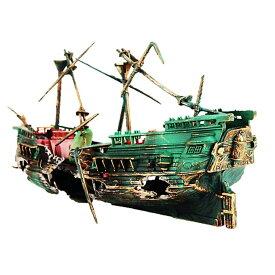 沈没船 アクアリウム 水槽 オブジェ オーナメント 水中 テラリウム ジオラマ リアル 模型 船 おしゃれ 男前 インテリア UMIYUREI
