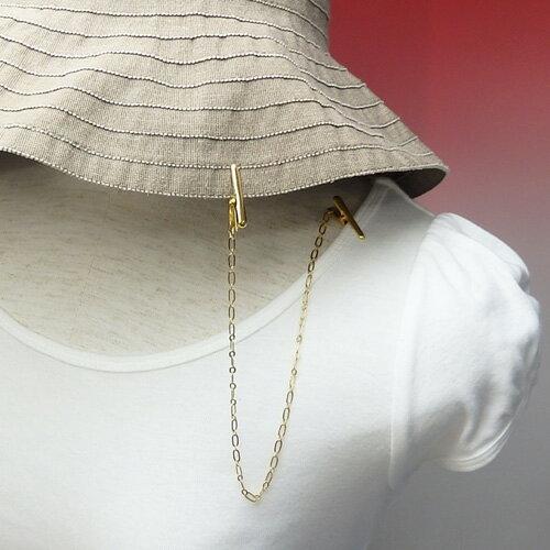 帽子クリップドレスクリップタイプロングフィガロチェーン帽子留めレディースハットクリップ帽子止めホルダー帽子ストッパーナプキンクリップハットキーパー
