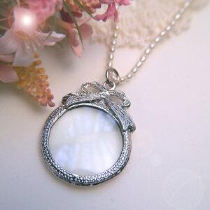 拡大鏡 ルーペ ペンダント ネックレス 淡水パール おしゃれ 真珠 母の日 敬老の日 プレゼン term 敬老の日 ギフトに プレゼントに