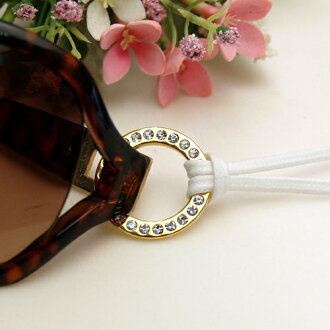 Stylish glass holder glitter rhinestone metal ring glasses holder necklace pendant sunglasses shade glass code flat laces men's 10P04Jul15