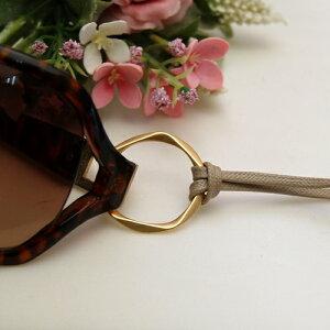 【メール便/送料無料】 グラスホルダー ペンタゴン リング 平紐 眼鏡 ホルダー ネックレス ペンダント サングラスかけ グラスコード メンズ レディース 【楽ギフ_包装】 父の