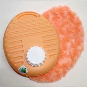 湯たんぽ ポリ湯たんぽプチ ふわふわカバーセット 0.9L オレンジ カラフルゆたんぽ (TPK-1072W) 父の日 ギフトに プレゼントに