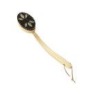 【送料無料】マーナ Bathボディブラシ曲柄 (馬毛) B583 日本製 檜 背中 柔らかい やわらかめ ソフト
