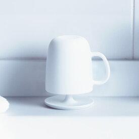 マーナ コップ取っ手付き スタンドセット W613【きれいに暮らす。】ホワイト 白 クリア プラスチック コップ