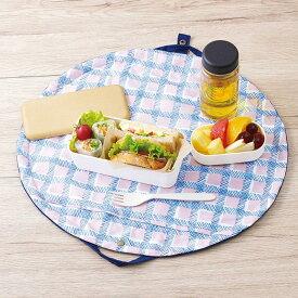 マーナ 広がるランチバッグ(ネイビー) S453 ランチバッグ おしゃれ ランチポーチ ミニバッグ お弁当袋 お弁当 バッグ 巾着 無地 ランチョンマット ランチマット キッチン