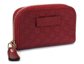 Coin case GUCCI Gucci coin purse multi-case Gucci coin case micro Gucci sima zippy coin wallet GG pattern type push leather red system 449896 BMJ1G 6420 outlet regular article new article