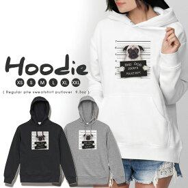 パーカー レディース メンズ スウェット パーカー プルオーバー hoodie 長袖 フード付き ペア カップル XS S M L XL XXL おそろ 大人かわいい おしゃれ 犬 イヌ ワル犬 悪い犬 おもしろパーカー 韓国ファッション