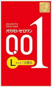 オカモト ゼロワン Lサイズ(3コ入) 0.01mm 【正規品】