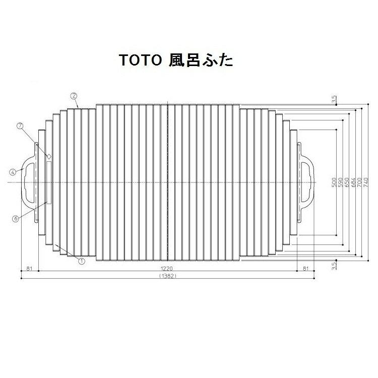 TOTO 風呂ふた(シャッター式)【EKK749W4】