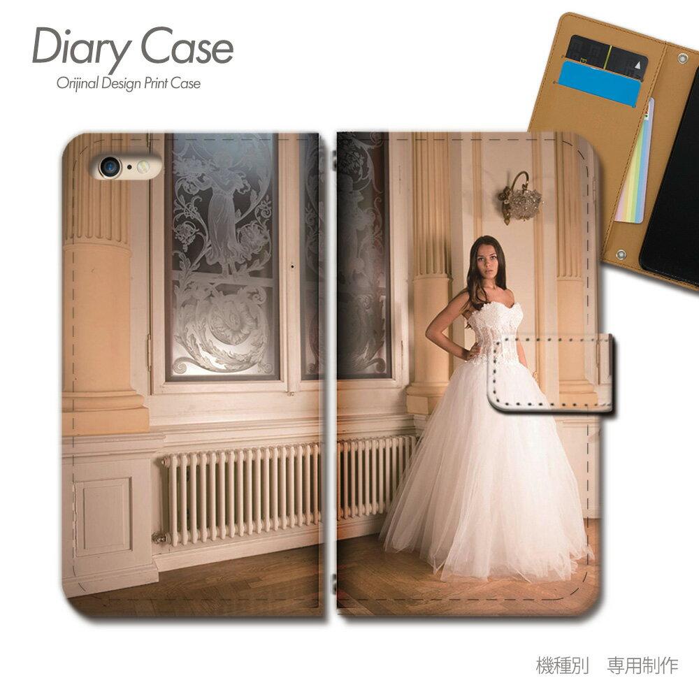 スマホケース 手帳型 全機種対応 PHOTO 女性 ウェディングドレス iphoneX Xperia XZ2 GALAXY S9/S9+ SH-03J SHV39 iphone8 AQUOS R ポスター01 [d017603_05]