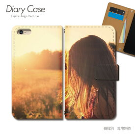 スマホケース 手帳型 全機種対応 ポスター 携帯ケース d017604_01 PHOTO 女性 草原 モデル ケース カバー iphoneSE2 iphone12 PRO Xperia 5 II GALAXY OPPO AQUOS R5G
