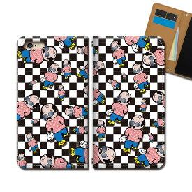 iPhone SE 第2世代 iPhoneSE2 スマホ ケース 手帳型 ベルトなし 乱れつよし おっさん 面白 スマホ カバー ゆるキャラ eb18603_04