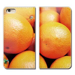 URBANO V03 KYV38 ケース 手帳型 ベルトなし フルーツ 果物 オレンジ みかん スマホ カバー カラフル01 eb00403_01