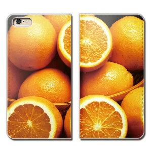 HUAWEI nova CAN-L12 ケース 手帳型 ベルトなし フルーツ 果物 オレンジ みかん スマホ カバー カラフル01 eb00404_01