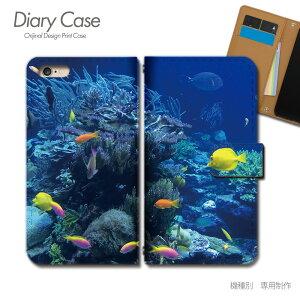 OPPO Reno3 5G 手帳型 ケース A001OP 海 スクーバダイビング 熱帯魚 サンゴ スマホ ケース 手帳型 スマホカバー e029703_05 オッポ おっぽ