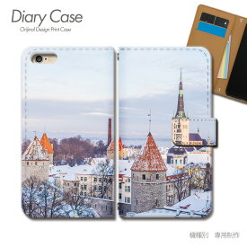 スマホケース 手帳型 全機種対応 ポスター 携帯ケース d032603_02 雪 街 冬 ケース カバー iphoneSE2 iphone12 PRO Xperia 5 II GALAXY OPPO AQUOS R5G