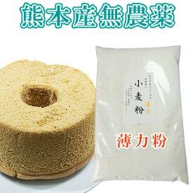 【熊本県】小麦粉(薄力粉)熊本県産無農薬・化学肥料不使用500グラム