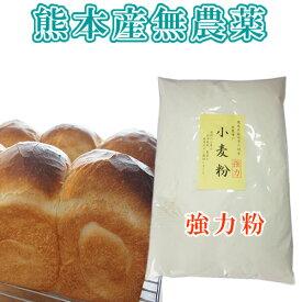 【熊本県】小麦粉(強力粉)熊本県産無農薬・化学肥料不使用・500グラム