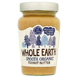 ホールアース オーガニック 100%ピーナッツバター (スムース) 砂糖不使用 Whole Earth Organic Smooth Peanut Butter No Added Sugar ピーナツバター スプレッド 有機 イギリス  海外【英国直送品】