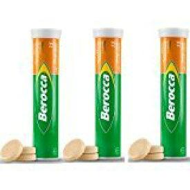 ビタミンサプリ Berocca (VitaminC,B群,葉酸,カルシウム,亜鉛,マグネシウム)15錠 X 3本 まとめ買いでお得!健康な毎日のために 【英国直送品】