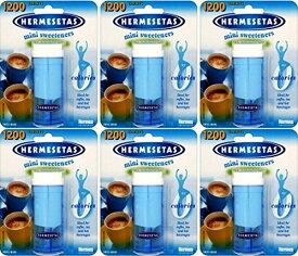 Hermesetas Mini Sweeteners 1200grains x 6 packs 1200粒x 6箱 エルメスタ ノンカロリー甘味料 糖質オフ スイス製 【英国直送品】