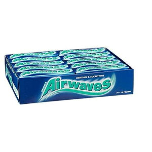 AIRWAVES Menthol and Eucalyptus Sugar Free Chewing Gum 10 Pellets (Pack of 30)