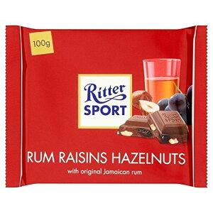 リッタースポーツラム酒、レーズン&ヘーゼルナッツミルクチョコレート100グラム - Ritter Sport Rum, Raisin & Hazelnuts Milk Chocolate 100g [並行輸入品]