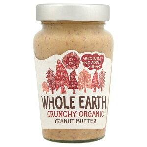 Whole Earth Organic Crunchy Peanut Butter No Added Sugar (340g) 地球全体の有機カリカリピーナッツバターを加えていない砂糖( 340グラム)